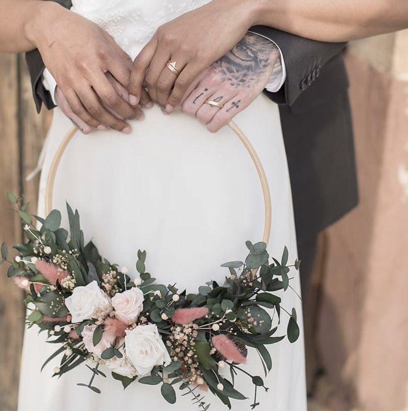 ramo de novia aro