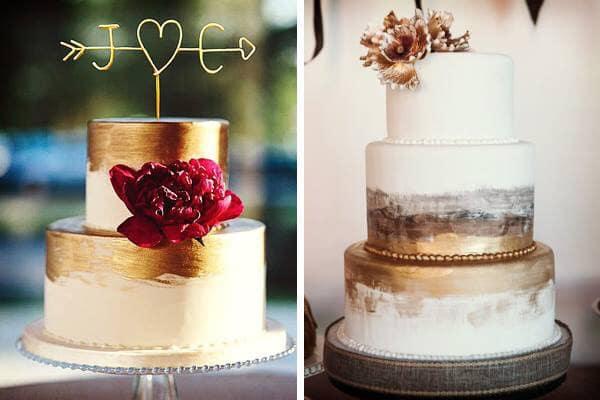 pastel bodas metalizado