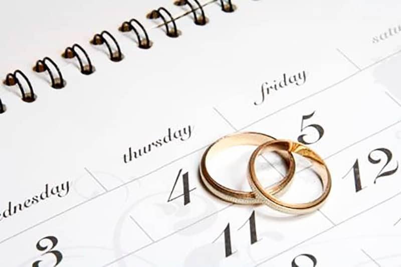 calendario para tu boda en 2020
